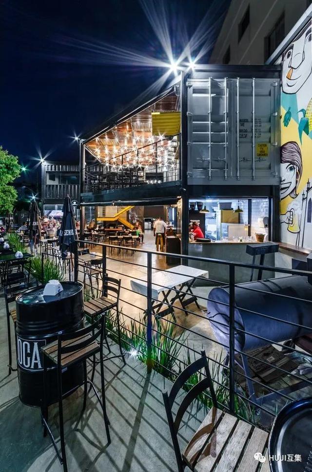 美式汉堡与工业集装箱,充满街头涂鸦风的网红餐厅